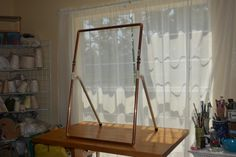 Tutorial On Enhancing A Picture Frame To Make A Loom (plus Making A Stand  For It) With Heddle Rod Holders And Tensioning Device. ___ YouTube Video U2026