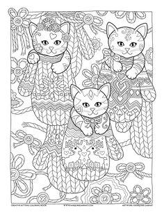 Mittens : Creative Kittens Coloring Book by Marjorie Sarnat