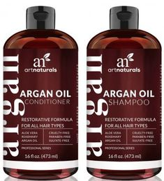 Art Naturals Organic Moroccan Argan Oil Shampoo and Conditioner Set x 16 Oz) - Sulfate Free - Volumizing Moisturizing, Gentle on Curly Color Treated Hair,For Men Women Infused with Keratin, click now to see more. Purple Shampoo Toner, Lila Shampoo, Shampoo For Curly Hair, Good Shampoo And Conditioner, Dry Hair, Shampooing Sans Sulfate, Shampooing Bio, Keratin, Hair Masks