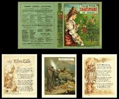 Charles and Mary Lamb Tales from Shakespeare in verse Book Pre 1900 Mini Books, Children's Books, Mini Craft, Dollhouse Miniatures, Diy Dollhouse, Dollhouse Furniture, Dollhouse Accessories, Decoupage, Little Books