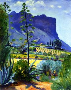 The Aloes in Bloom, Cassis Henri Manguin