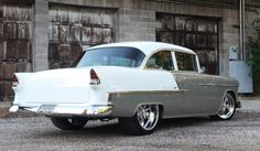 When Gary Holyoak brought his father's 1955 Bel Air to Kindig-It Designs, he knew exactly what he wanted: a clean and classic show car that could also serve as a daily-driver. Dave Kindig, owner of the Salt-Lake-City-based shop, is known for churning out eye-popping custom cars but was happy to adhere to his customer's request to give the car a classic-looking exterior and a warm interior.
