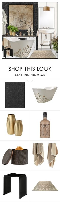 """Blissful Baths"" by ana-angela ❤ liked on Polyvore featuring interior, interiors, interior design, home, home decor, interior decorating, WS Bath Collections, Pigeon & Poodle and Decor Walther"