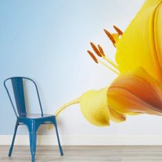 yellow-lily-flower-flower-square-wall-murals