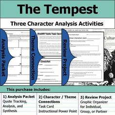 The Hobbit - Character Analysis Packet, Theme Connections, & Project The Hobbit - Character Analysis Packet, Theme Connections, & Project This purchase contains three character-focused assignments (Ch Macbeth Characters, The Hobbit Characters, Walk Two Moons, Oedipus Complex, Moon Projects, Organization Quotes, Time Activities, Group Work, The Martian