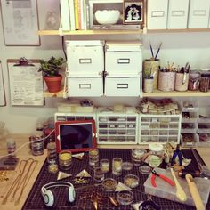 My jewelry workspace. michelle starbuck designs