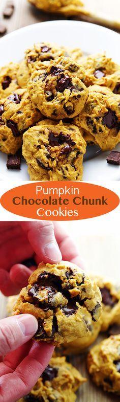 Pumpkin Chocolate Chunk Cookies- sub regular sugar for the Splenda.