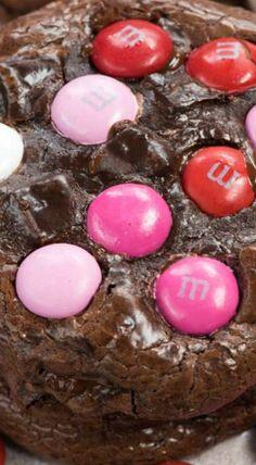 Valentine brownie cookies