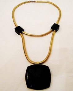 #vintage #lanvin lucite necklace... Oh boy