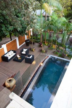 Beautiful Outdoor Living - gorgeous swimming Pool  & seating area - Greenwich Residence in Australia by Fluid Design