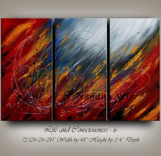 """""""Life and Consciousness - 6"""" by Nandita Arts. Abstract art - home decor ideas - original modern art. The passion and chaos of life can always be overcome by finding the bits of clarity in between. Every cloud has a silver lining. #Abstractart"""