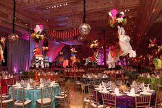Mar-a-Lago's ballroom was decked out, a la Cirque du Palm Beach