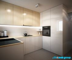 Projekt wnętrz kuchni w mieszkaniu w Kaletach. Projekt opracowany przez ArchiGroup / Adam Kuropatwa. /Interior design - #kitchen in a flat in Kalety, Poland. Designed by #Archigroup. /  www.archigroup.pl
