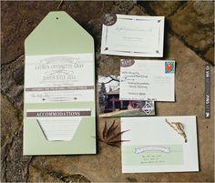 green wedding invitations   VIA #WEDDINGPINS.NET