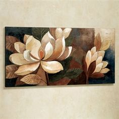 Bring the natural beauty of flowers to your walls with the Magnolia Glow Floral Canvas Wall Art. Texture Painting On Canvas, Flower Painting Canvas, Oil Painting Flowers, Abstract Canvas, Big Canvas Prints, Canvas Wall Art, Big Canvas Art, Floral Wall Art, Arte Floral