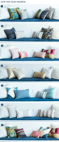 Mixing pillows and patterns
