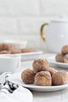 """An American-German Recipe! Cinnamon+Sugar,"""" #German Soft Pretzel Bites are super simple to make and delicious to eat! The perfect snack for game day!  And, they are better than donut holes too!"""