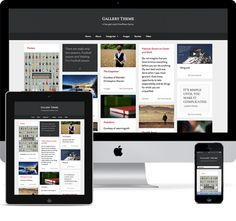 Gallery – A Free Responsive Pinterest Like Theme for WordPress