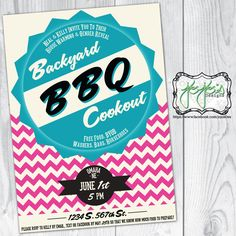 House Warming BBQ with Gender Reveal Party, Vintage, Chevron, Seal Invitation (Digital File) by jojosdesigns on Etsy