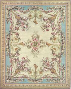 "5""x6"" French Victorian Shabby Chic dollhouse miniature area rug"