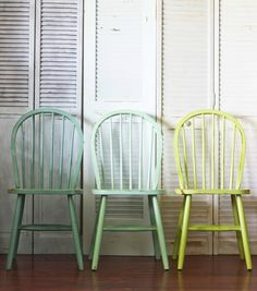 Grab Your Paintbrush! 10 DIY Makeovers for Your Chairs via Brit + Co