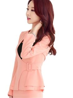 9aedcc27a48564 B dressy Novelty Yellow Uniform Style Spring Autumn Professional Business  Women Work Wear Coat Tops Clothes 5XLarge -- More info could be found at  the image ...