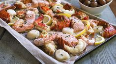 Deluxe Seafood Bake for Four | Five types of sumptuous seafood deliciously baked with lemon, garlic & butter.