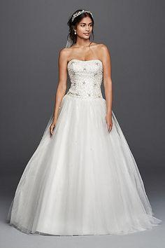 Jewel Beaded Tulle Ball Gown Wedding Dress WG3798