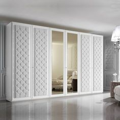 Large 6 Door Button Upholstered Fitted Wardrobe In 2019 Wardrobes with proportions 1000 X 1000 6 Door Wardrobe Bedroom Furniture - White is one of those Wardrobe Door Designs, Wardrobe Design Bedroom, Bedroom Cupboard Designs, Bedroom Cupboards, Wardrobe Doors, Closet Designs, Bedroom Decor, Bedroom Designs, Bedroom Furniture