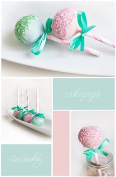 adorable cakepops with straws (i think) @Kim Hogle