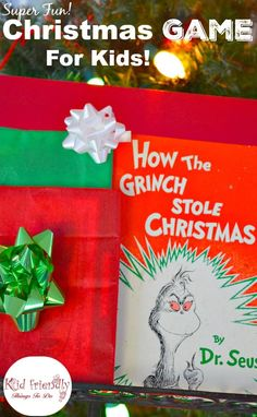 "A Fun Holiday Game for Kids Using ""How the Grinch Stole Christmas"" - It's kind of like Hot Potato, but better! Party game. http://www.kidfriendlythingstodo.com"