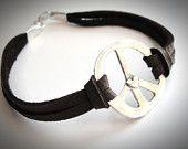 Sterling Peace & Heart bracelet $30.00 on Etsy