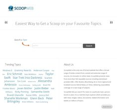 Scoop Web - News, Information and Media Content on Topics