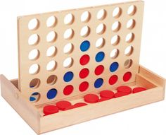 Small Foot Drevená hra 4 v rovine na ceste Eco Game, Waldorf Shop, 4 In A Row, Connect Four, Parlor Games, Version Francaise, Kids Board, Bible For Kids, Toy Craft