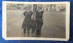 Photograph 2 Women Wading Great Vintage Antique Fashion Bathing Suits & Bonnets