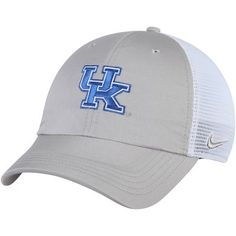 Men s Nike Gray White Kentucky Wildcats Trucker Adjustable Performance Hat e6084ef5b42f