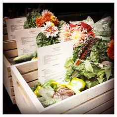CSA box! // Use as gift for small wedding or to make homegrown, homemade dinner/apps for guests