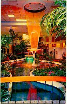 shopping mall wonder... 1960s Shopping Mall Palm Beach Vintage Postcard