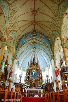 "The ""Painted Churches"" are a collection of 19th century churches in Central Texas. They were built by the Czech and German immigrants. The exteriors seem pretty plain, but the colorful interiors are beautifully painted."