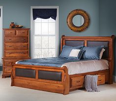 2e04dd889b32 Amish Elegance Frame Bed with Low Footboard by Daniel s Amish ...