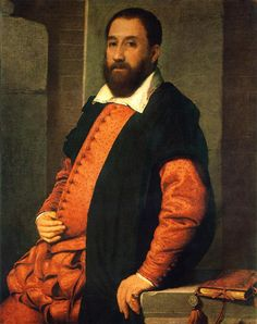 Portrait of Jacopo Foscarino, 1575 by Giovanni Battista Moroni (Italian c. 1520-1578)
