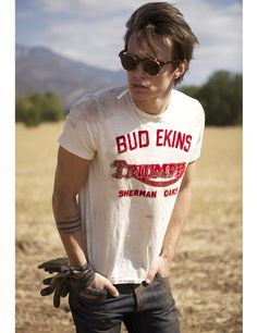 Johnson Motors Inc - News  Bud Ekins Triumph Motorcycles Tee in Dirty White