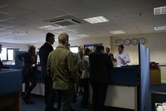 Managing Director Andy Cork leads a tour of the offices.