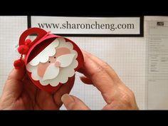 Santa Curvy Keepsake Box with Sharing Creativity and Company