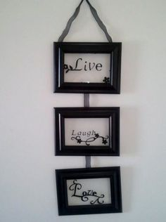 Live, laugh, love picture frame craft...easy to do!