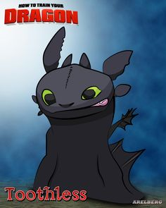 My Favorite Characters Vector Art (Toothless) by Are Lorenz Bergonia, via Behance