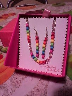 Braccialetto con orecchini ❇ Rainbow in quilling ❇.