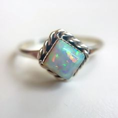 Just ordered this Zuni Opal Diamond Shape Ring from Indie and Harper.