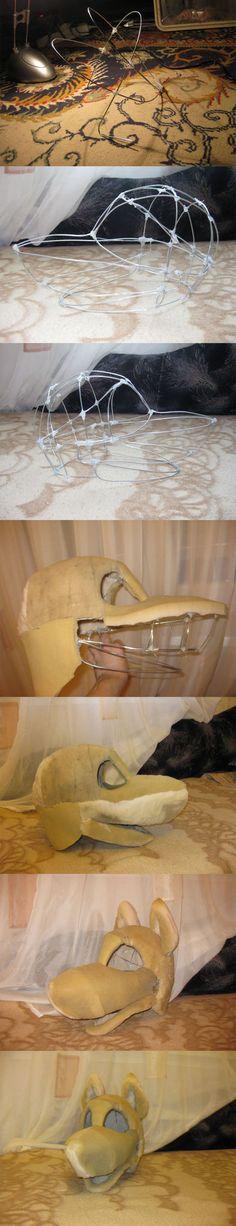 deviantART: Más como zorro plantillas cabeza fursuit de ~ labradorpup2001