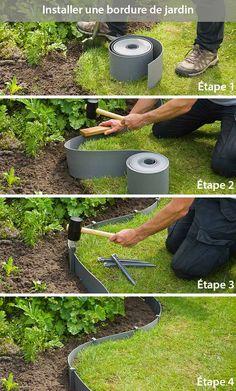 Backyard Garden Design, Small Backyard Landscaping, Front House Landscaping, Landscaping Ideas, Garden Art, Front Garden Landscape, Landscape Design, Garden Edging, Border Garden